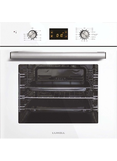 Luxell Luxell Ddt 15 Prg. Dijital Opall Beyaz Cam Ankastre Set Beyaz